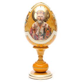 Russian Egg Nikolaos of Myra découpage, Fabergè style 20cm s1