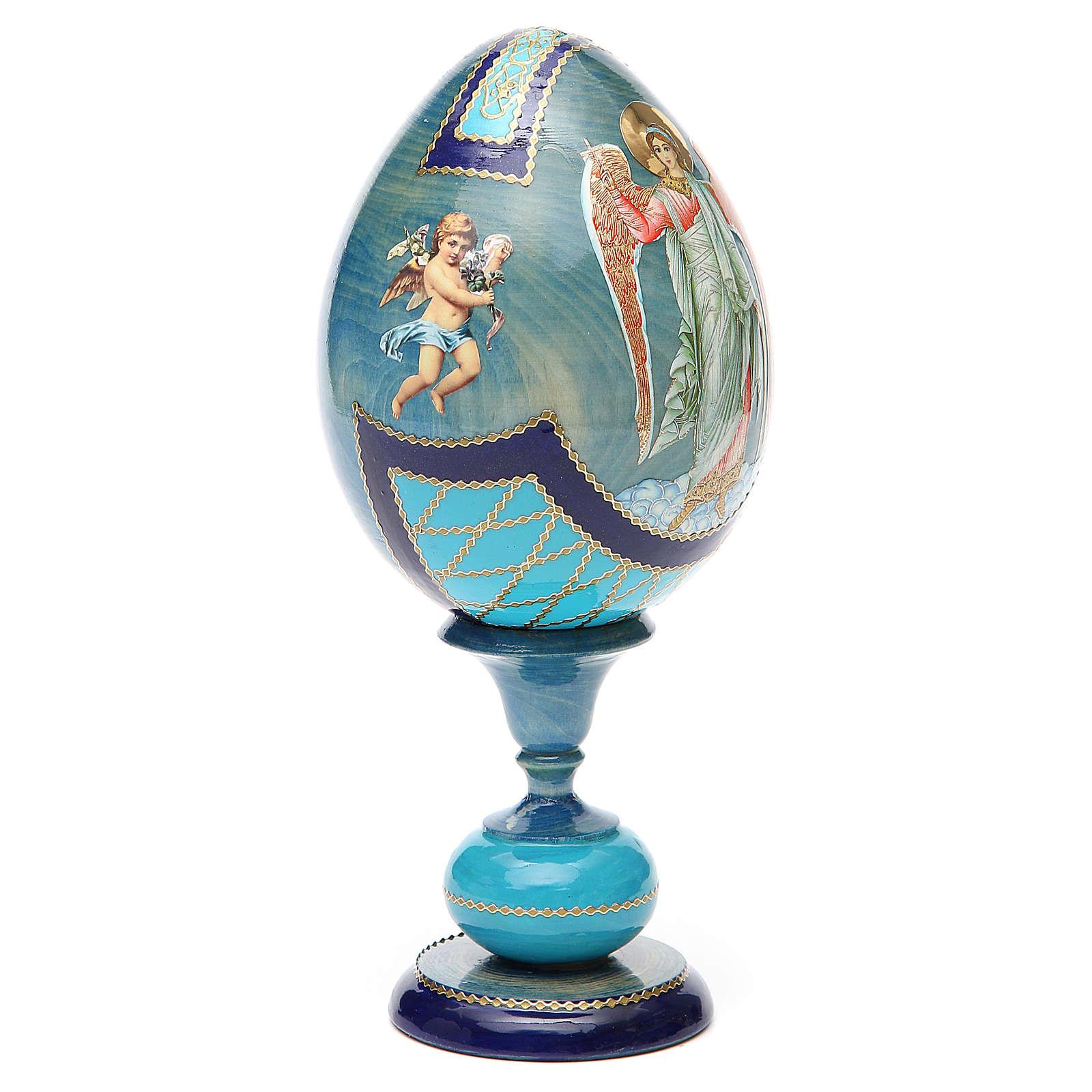 Oeuf découpage russe Ange Gardien h 20 cm style Fabergé 4