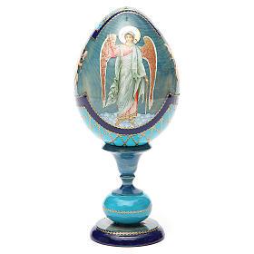 Oeuf découpage russe Ange Gardien h 20 cm style Fabergé s5