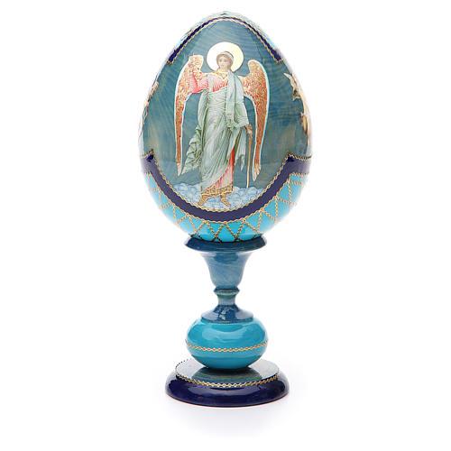 Oeuf découpage russe Ange Gardien h 20 cm style Fabergé 1