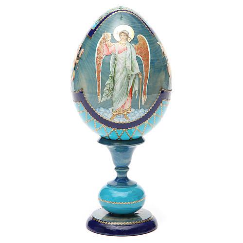 Oeuf découpage russe Ange Gardien h 20 cm style Fabergé 5