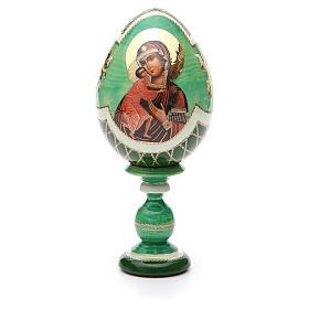Uovo Russia découpage Feodorovskaya tot h 20 cm stile Fabergè s1