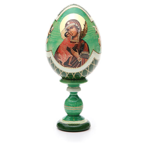 Uovo Russia découpage Feodorovskaya tot h 20 cm stile Fabergè 1