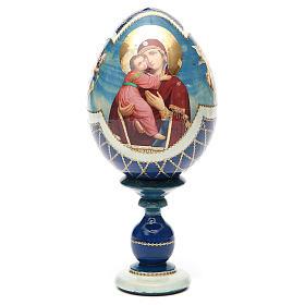 Russian Egg Theotokos of Vladimir découpage, Fabergè style 20cm s5