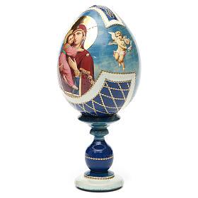 Russian Egg Theotokos of Vladimir découpage, Fabergè style 20cm s6