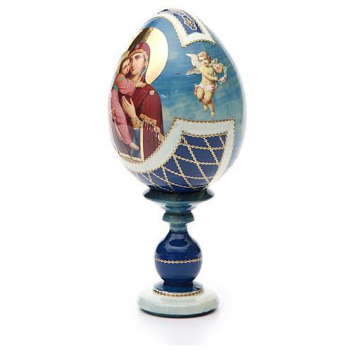 Russian Egg Theotokos of Vladimir découpage, Fabergè style 20cm 2