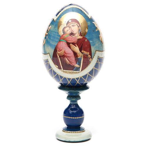 Russian Egg Theotokos of Vladimir découpage, Fabergè style 20cm 5