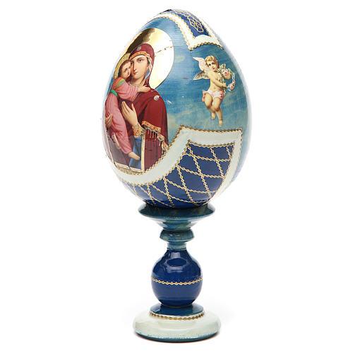 Russian Egg Theotokos of Vladimir découpage, Fabergè style 20cm 6