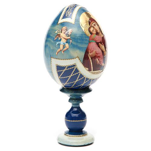 Russian Egg Theotokos of Vladimir découpage, Fabergè style 20cm 8