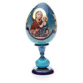 Russian Egg Smolenskaya découpage, Fabergè style 20cm s1