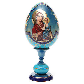 Russian Egg Smolenskaya découpage, Fabergè style 20cm s5