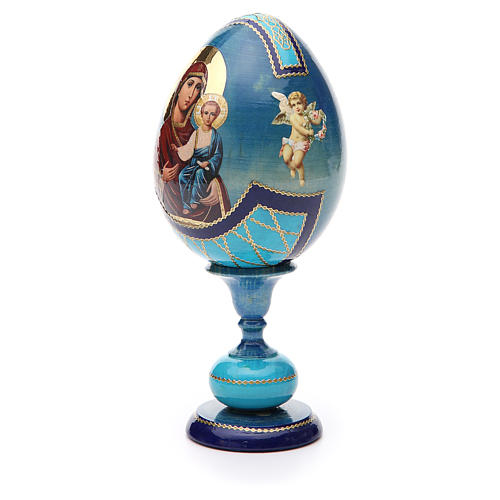 Russian Egg Smolenskaya découpage, Fabergè style 20cm 2
