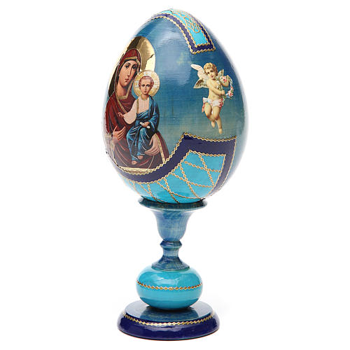 Russian Egg Smolenskaya découpage, Fabergè style 20cm 6