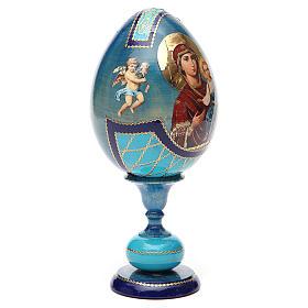 Oeuf Russie découpage Smolenskaya h 20 cm style Fabergé s8