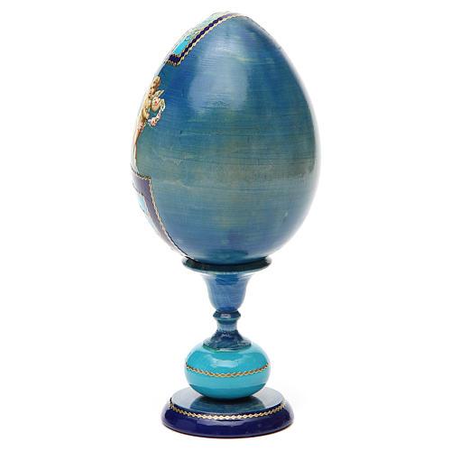 Russian Egg Smolenskaya découpage, Fabergè style 20cm 7