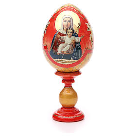 Russian Egg I'm with you découpage, Fabergè style 20cm s1