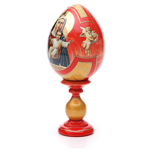 Russian Egg I'm with you découpage, Fabergè style 20cm 2