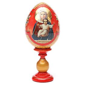 Russian Egg I'm with you découpage, Fabergè style 20cm s5
