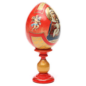 Russian Egg I'm with you découpage, Fabergè style 20cm s8
