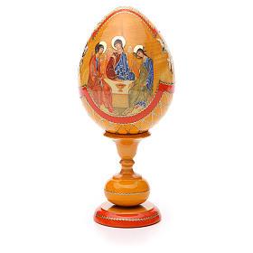 Russian Egg Rublev Trinity découpage, Fabergè style 20cm s1