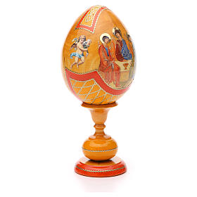 Russian Egg Rublev Trinity découpage, Fabergè style 20cm s4