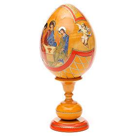 Russian Egg Rublev Trinity découpage, Fabergè style 20cm s6