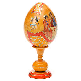 Russian Egg Rublev Trinity découpage, Fabergè style 20cm s8