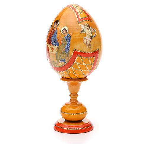 Russian Egg Rublev Trinity découpage, Fabergè style 20cm 2