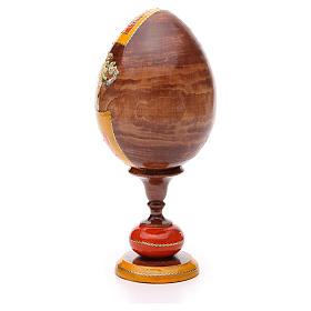 Uovo legno découpage Russia Tre Mani tot h 20 cm stile Fabergè s3
