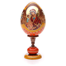Russian Egg Three Hands Virgin découpage, Fabergè style 20cm s1