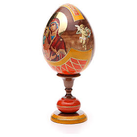Russian Egg Three Hands Virgin découpage, Fabergè style 20cm s2