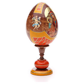 Russian Egg Three Hands Virgin découpage, Fabergè style 20cm s4