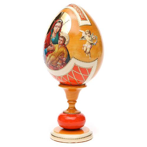 Russian Egg Kozelshanskaya découpage, Fabergè style 20cm 6