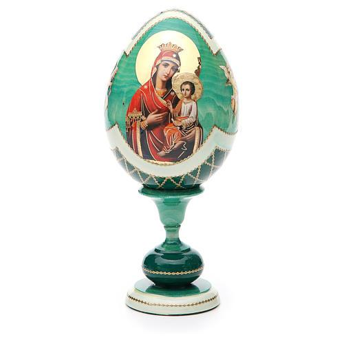 Uovo découpage Russia Odigitria Gorgoepikos tot h 20 cm stile Fabergè 1