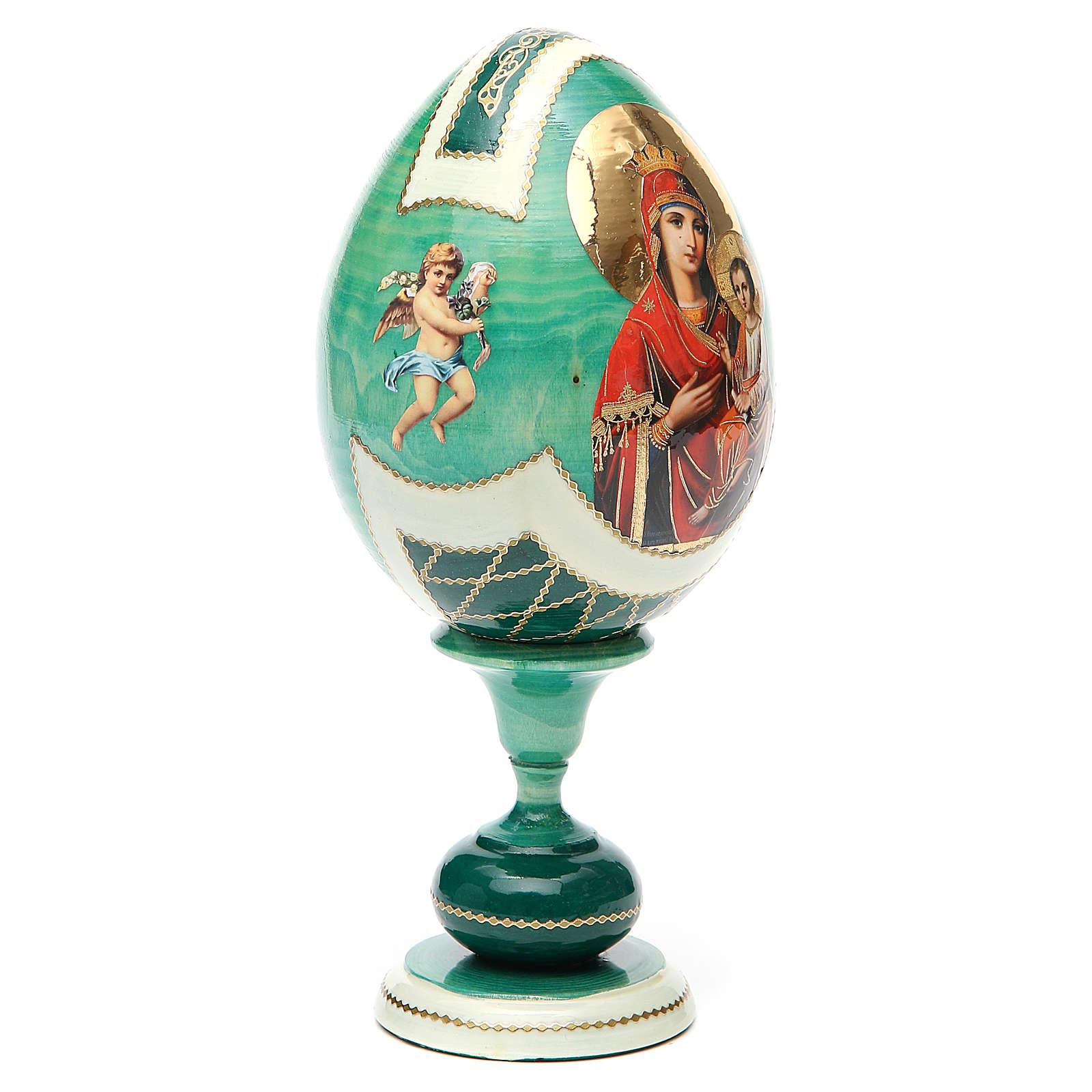 Russian Egg Odigitria Gorgoepikos découpage, Fabergè style 20cm 4