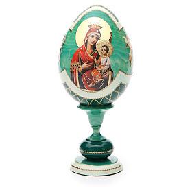 Russian Egg Odigitria Gorgoepikos découpage, Fabergè style 20cm s1