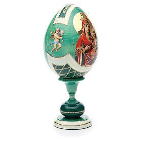 Russian Egg Odigitria Gorgoepikos découpage, Fabergè style 20cm s4