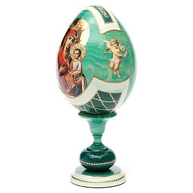 Russian Egg Odigitria Gorgoepikos découpage, Fabergè style 20cm s6