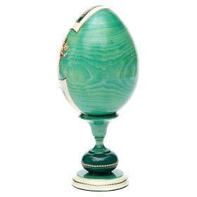 Russian Egg Odigitria Gorgoepikos découpage, Fabergè style 20cm s7
