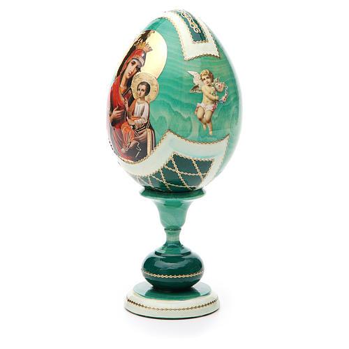 Russian Egg Odigitria Gorgoepikos découpage, Fabergè style 20cm 2