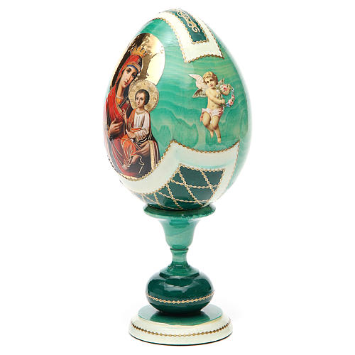 Russian Egg Odigitria Gorgoepikos découpage, Fabergè style 20cm 6