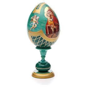 Russian Egg Pochaevskaya découpage, Fabergè style 20cm s4