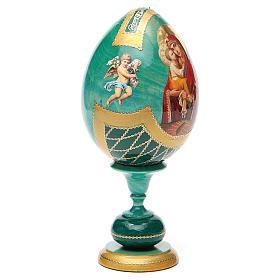 Russian Egg Pochaevskaya découpage, Fabergè style 20cm s8
