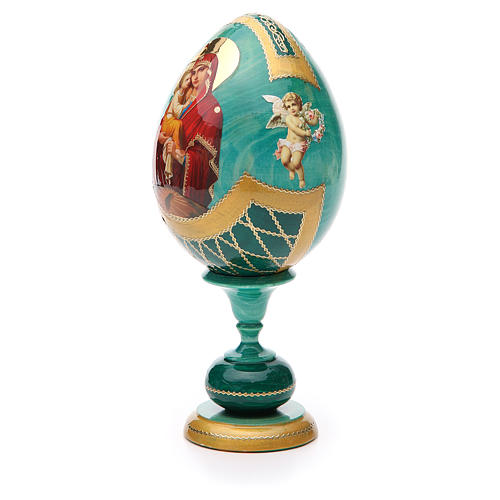 Russian Egg Pochaevskaya découpage, Fabergè style 20cm 2