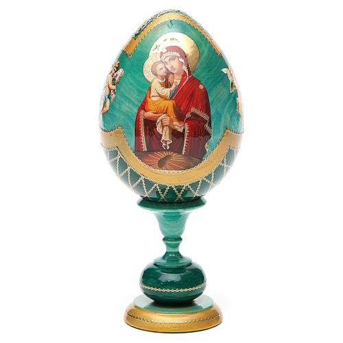 Russian Egg Pochaevskaya découpage, Fabergè style 20cm 5