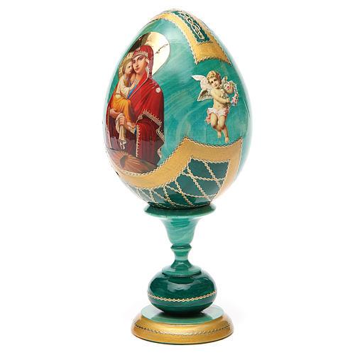 Russian Egg Pochaevskaya découpage, Fabergè style 20cm 6