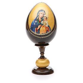Russian Egg White Lily Madonna découpage, Fabergè style 20cm s1
