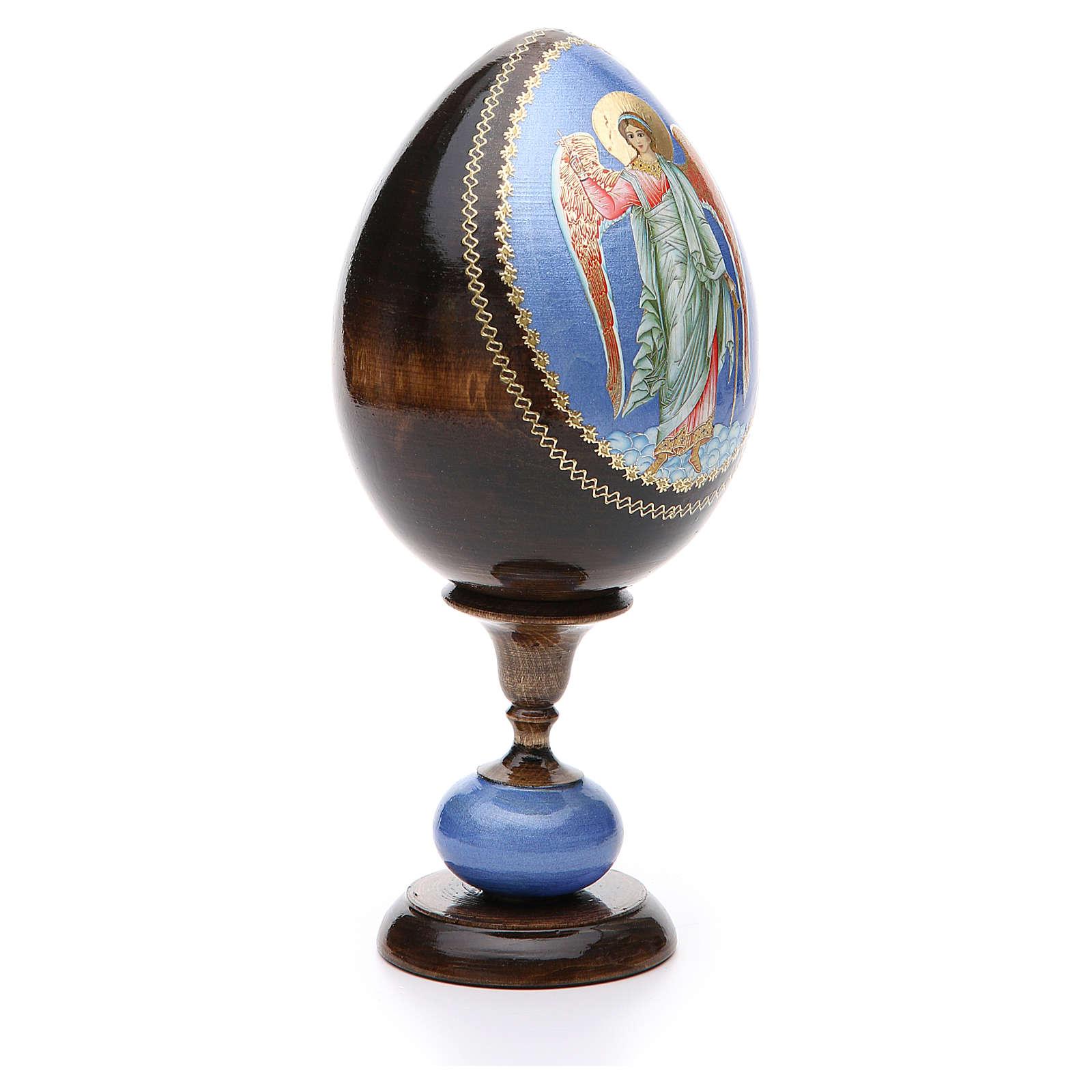 Huevo icono découpage Rusia Ángel de la guarda  tot h 20 cm 4