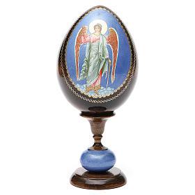 Huevo icono découpage Rusia Ángel de la guarda  tot h 20 cm s5
