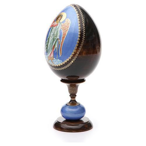 Huevo icono découpage Rusia Ángel de la guarda  tot h 20 cm 2